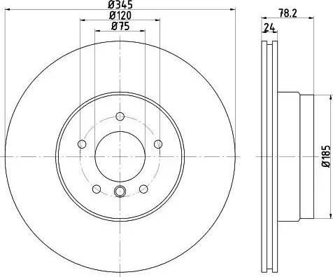 Mintex MDC2331 - Bremžu diski interparts.lv