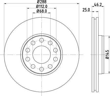 Mintex MDC2338 - Bremžu diski interparts.lv