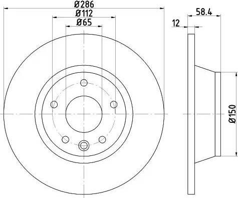 Mintex MDC2292 - Bremžu diski interparts.lv