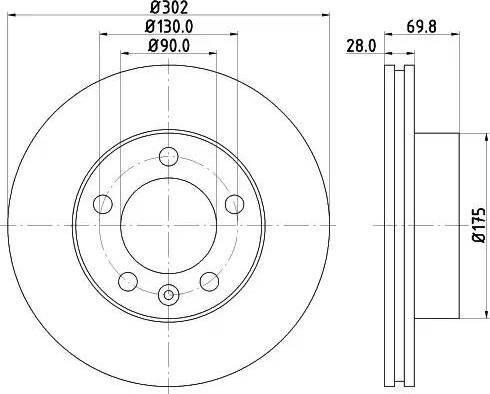 Mintex MDC2240 - Bremžu diski interparts.lv