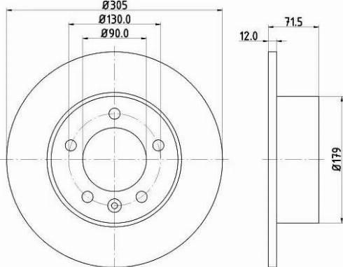 Mintex MDC2241 - Bremžu diski interparts.lv
