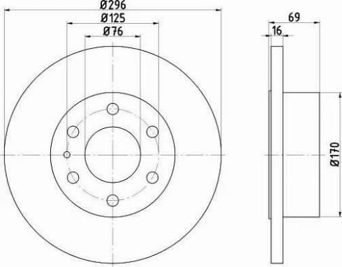 Mintex MDC2247 - Bremžu diski interparts.lv