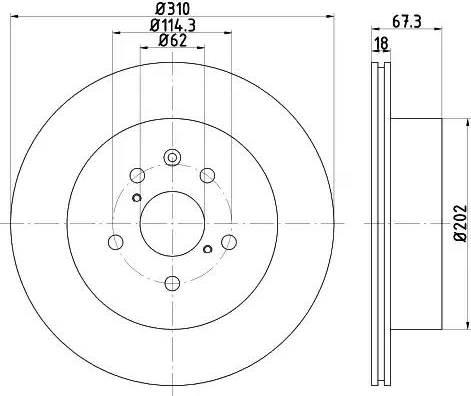Mintex MDC2250 - Bremžu diski interparts.lv