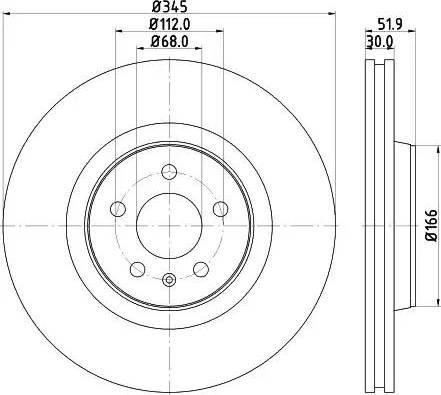 Mintex MDC2262 - Bremžu diski interparts.lv