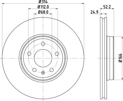 Mintex MDC2200C - Bremžu diski interparts.lv