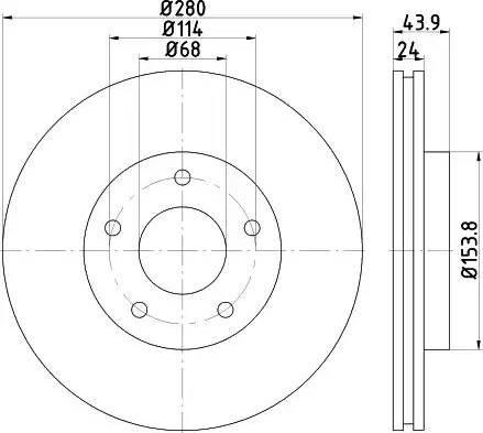 Mintex MDC2280 - Bremžu diski interparts.lv