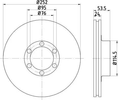 Mintex MDC222 - Bremžu diski interparts.lv
