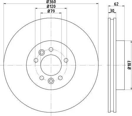 Mintex MDC2748 - Bremžu diski interparts.lv