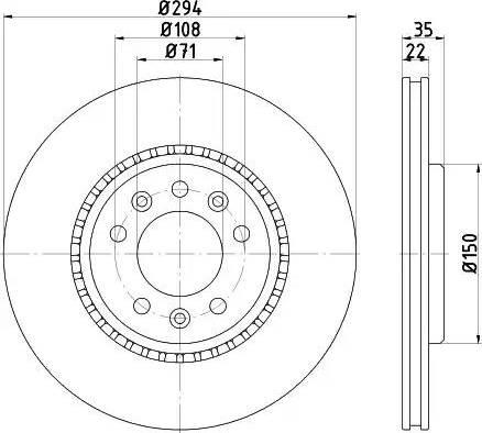 Mintex MDC2759 - Bremžu diski interparts.lv