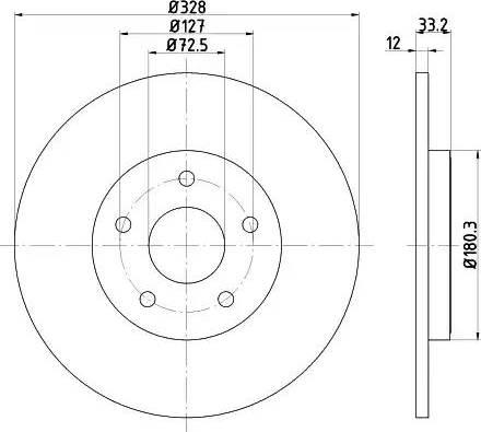 Mintex MDC2754 - Bremžu diski interparts.lv
