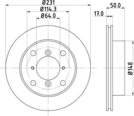 Mintex MDC791 - Bremžu diski interparts.lv