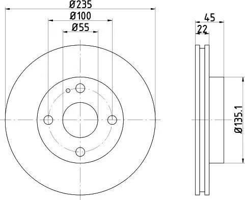 Mintex MDC743 - Bremžu diski interparts.lv