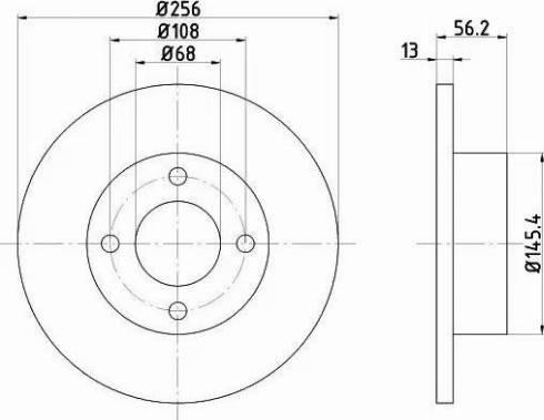 Mintex MDC756 - Bremžu diski interparts.lv