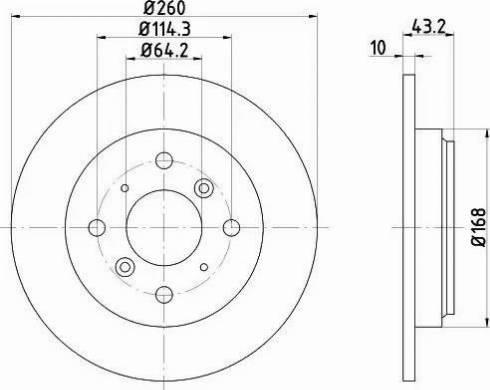 Mintex MDC783 - Bremžu diski interparts.lv