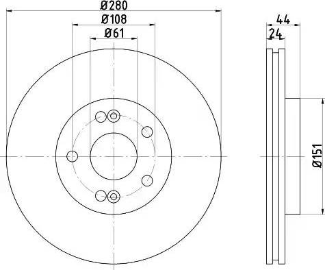 Mintex MDC778 - Bremžu diski interparts.lv