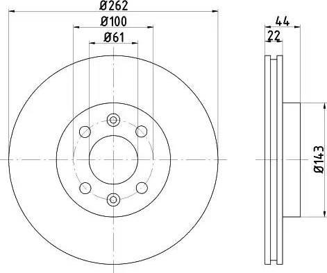 Mintex MDC777 - Bremžu diski interparts.lv