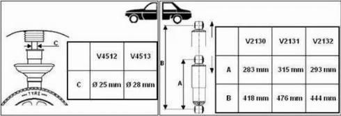 Monroe V4513 - Amortizators interparts.lv