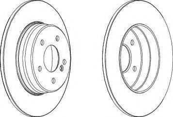 DJ Parts BD1740 - Bremžu diski interparts.lv