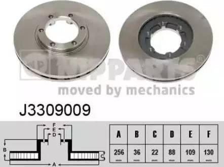 Nipparts J3309009 - Bremžu diski interparts.lv