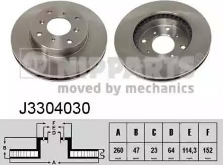 Nipparts J3304030 - Bremžu diski interparts.lv