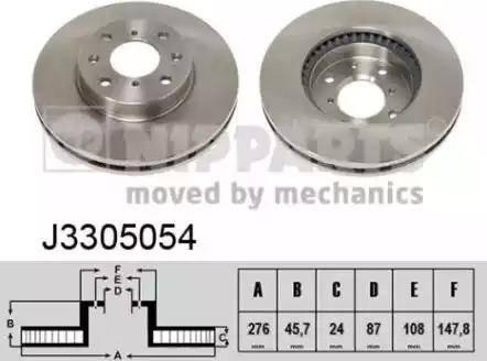 Nipparts J3305054 - Bremžu diski interparts.lv