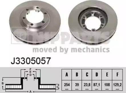 Nipparts J3305057 - Bremžu diski interparts.lv