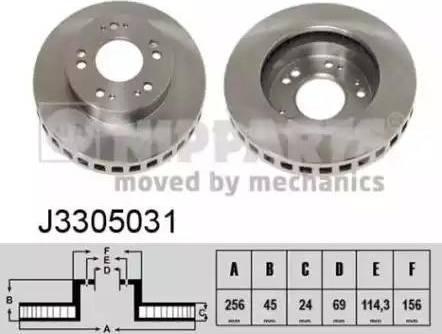 Nipparts J3305031 - Bremžu diski interparts.lv
