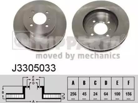 Nipparts J3305033 - Bremžu diski interparts.lv