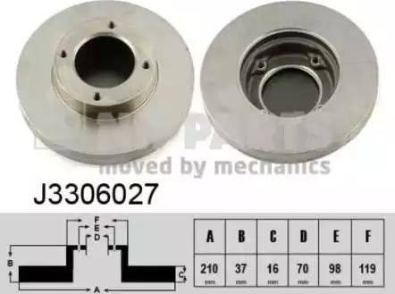 Nipparts J3306027 - Bremžu diski interparts.lv