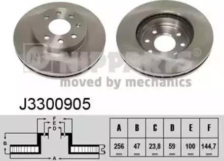 Nipparts J3300905 - Bremžu diski interparts.lv
