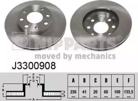 Nipparts J3300908 - Bremžu diski interparts.lv