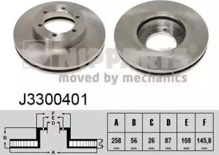 Nipparts J3300401 - Bremžu diski interparts.lv