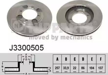 Nipparts J3300505 - Bremžu diski interparts.lv