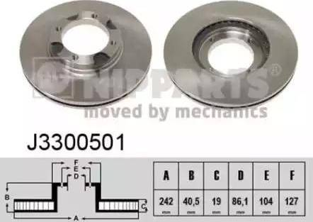 Nipparts J3300501 - Bremžu diski interparts.lv