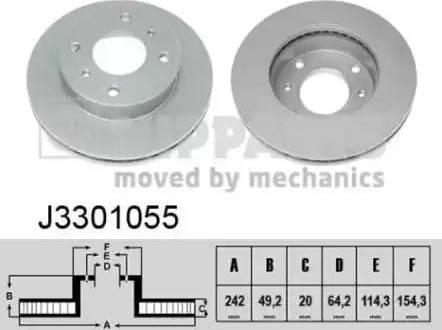 Nipparts J3301055 - Bremžu diski interparts.lv