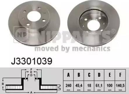 Nipparts J3301039 - Bremžu diski interparts.lv