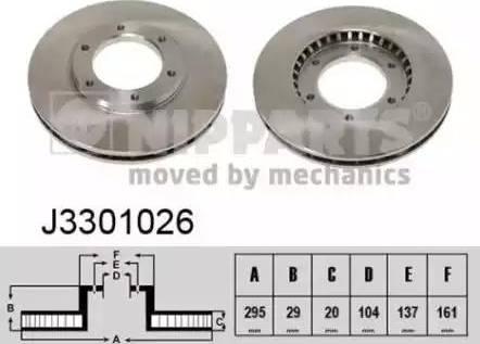 Nipparts J3301026 - Bremžu diski interparts.lv