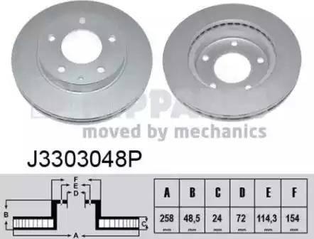 Nipparts J3303048P - Bremžu diski interparts.lv
