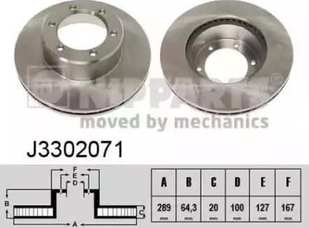 Nipparts J3302071 - Bremžu diski interparts.lv