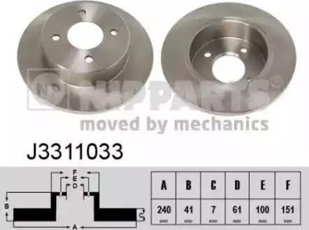 Nipparts J3311033 - Bremžu diski interparts.lv