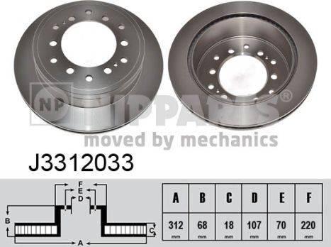 Nipparts J3312033 - Bremžu diski interparts.lv