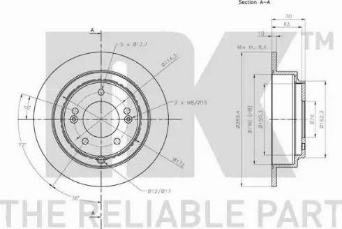 NK 203540 - Bremžu diski interparts.lv