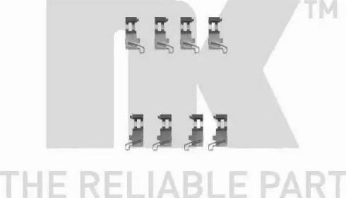 NK 7951226 - Piederumu komplekts, Disku bremžu uzlikas interparts.lv