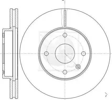 NPS D330O10 - Bremžu diski interparts.lv