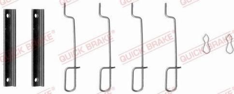 OJD Quick Brake 109-0992 - Piederumu komplekts, Disku bremžu uzlikas interparts.lv