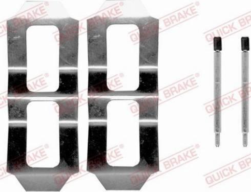 OJD Quick Brake 1090987 - Piederumu komplekts, Disku bremžu uzlikas interparts.lv