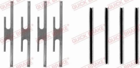 OJD Quick Brake 109-0975 - Piederumu komplekts, Disku bremžu uzlikas interparts.lv