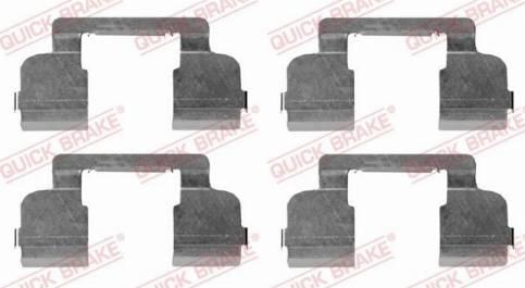 OJD Quick Brake 109-1698 - Piederumu komplekts, Disku bremžu uzlikas interparts.lv