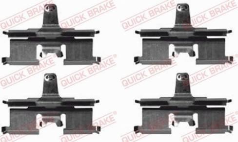OJD Quick Brake 1091692 - Piederumu komplekts, Disku bremžu uzlikas interparts.lv