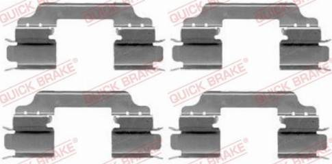 OJD Quick Brake 109-1649 - Piederumu komplekts, Disku bremžu uzlikas interparts.lv